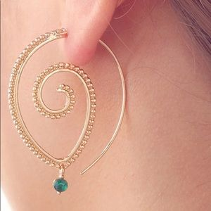 🆕Round tribal spiral earring